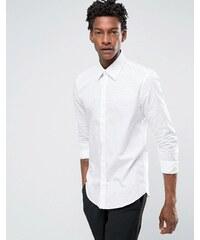 Reiss - Chemise habillée ajustée à pois - Blanc