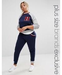 Pink Clove - Varsity - Pantalon style survêtement - Bleu marine