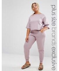 Pink Clove - Pantalon de survêtement souple - Violet