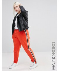 ASOS CURVE Track Pant with Contrast Side Stripe - Rot
