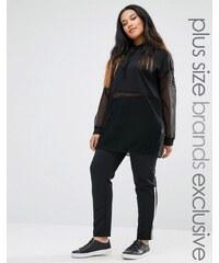 Pink Clove - Schmale Hose mit Streifendesign - Schwarz