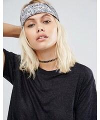 ASOS - Bandana und Haarband mit Paisley-Muster - Schwarz