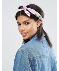 ASOS - Bandana und Haarband mit Paisley-Muster - Rosa