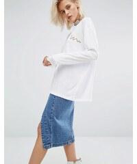 KKXX - T-shirt manches longues de luxe - Blanc