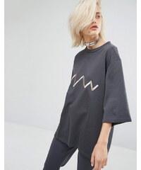 KKXX - T-shirt style sweat luxueux - Gris
