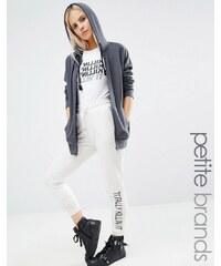 Noisy May Petite - Kicks Back - Jogginghose mit Motiv-Print - Weiß