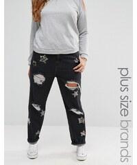 Alice & You Star Embellished Boyfriend Jeans - Noir