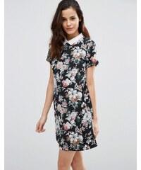 Poppy Lux - Wilona - Robe tunique à fleurs - Noir
