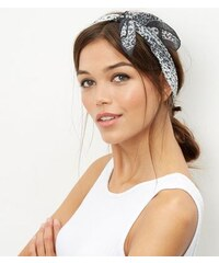 New Look Dunkelgraues Bandana mit Leopardenmuster