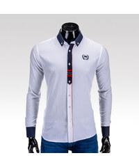 Ombre Clothing pánská košile Parks bílá