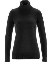 bpc bonprix collection Rollkragen-Pullover langarm in schwarz für Damen von bonprix