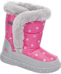 Trespass Dívčí puntíkované sněhule Tigan - růžové