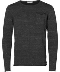 Selected SHDJai Wool Crew Neck Strickpulli grey/caviar