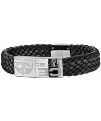 Police Bracelet cuir et acier Homme PJ25333BLB01L
