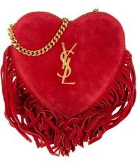 Saint Laurent Sacs à Bandoulière, YSL Fringed Love Crossbody Bag New Red en rouge