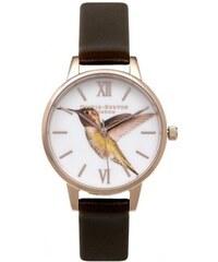 PROMO - Olivia Burton Montre Hummingbird Chocolate & Rose Gold Femme OB15WL59