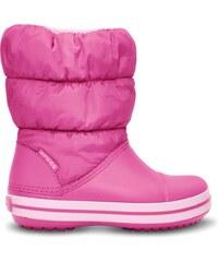 CROCS winter puff boot kids fuchsiové