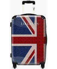 Ikase Valise Valise Lollipops drapeau london bleu - Taille 55cm, 38L