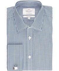 Pánská košile Hawes & Curtis Bílé & Navy kostky