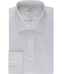 Pánská košile Hawes & Curtis Bílé & Šedé pruhy