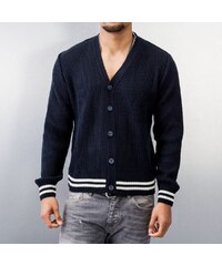 MCL Basic Small Buttons Cardigan Dark Blue
