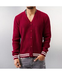 MCL Basic Small Buttons Cardigan Bordeaux