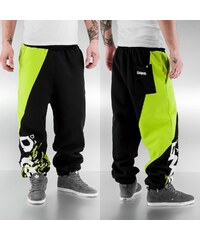 Dangerous DNGRS Santiago Sweat Pants Black/Lime Green