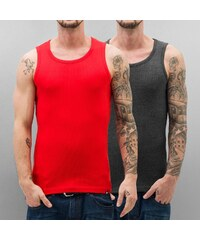 Dangerous DNGRS Double Pack Tank Top Fiery Red/Charcoal