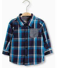 Esprit Chemise à carreaux et poche, 100 % coton