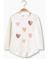 Esprit T-shirt à paillettes en coton mélangé