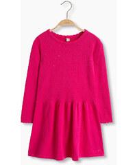 Esprit Bavlněné pletené šaty s lesklými nýtky