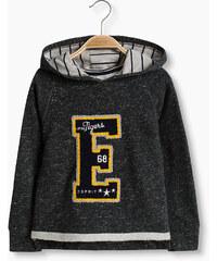 Esprit Sweater à capuche et patch, 100 % coton