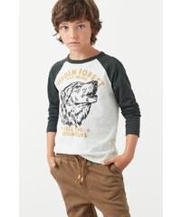 Mango Kids - Dětské tričko Trail 104-164 cm