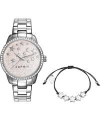Esprit Set Uhr Armband silber mit Sternen ES109352001