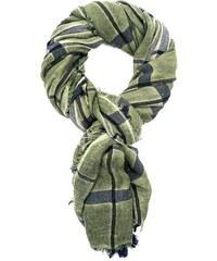 LERROS Damen LERROS Schal mit großem Check grün