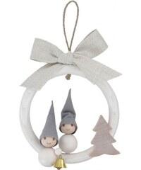 Závěsná dekorace Vánoční skřítci, bílá Aarikka