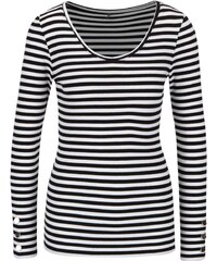 Černo-krémové pruhované tričko s dlouhým rukávem ONLY Olivia