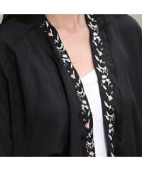 Lesara Cardigan im Kimono-Stil - Schwarz - S