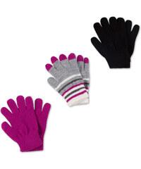 C&A 3er Pack Handschuhe in Grau