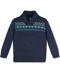 C&A Pullover mit Schalkragen in Blau
