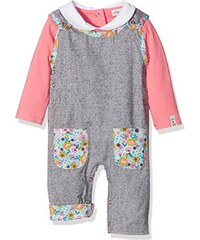 Lilly and Sid Baby-Mädchen Overall Reversible Flannel/Ditsy Dungaree Set