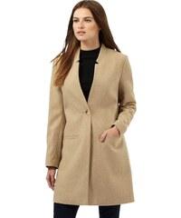 DASH Norkový kabát s dekorem zářezů