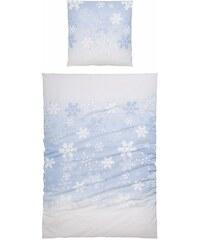 Bettwäsche, Casatex, »Blanca«, mit Schneeflocken-Design