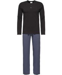 Calvin Klein Pánské pyžamo Pant W L/S Henley NM1340E-PLB
