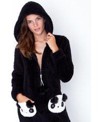 Combinaison Panda toucher polaire à capuche Etam