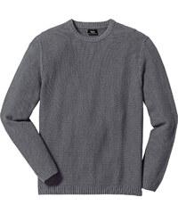 bpc bonprix collection Pullover Regular Fit langarm in grau für Herren von bonprix