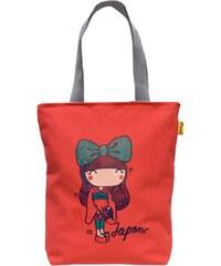 Oneman Sac Bandouliere Sac fille à bandoulières en coton corail Canvas Bag Japonaise