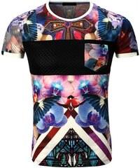 Rerock T-shirt Tee shirt fleurie homme T-shirt RR1982 rose