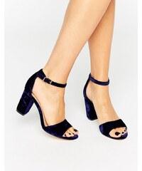 Miss KG - Sandales en velours à talons carrés - Bleu