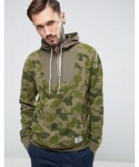 Poler - Sweat à capuche avec imprimé camouflage - Jaune